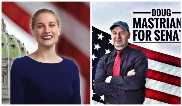 Sarah Hammond, left, and Doug Mastriano. (Courtesy campaign websites)